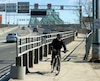 La piste cyclable du pont Jacques-Cartier