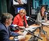 Les candidats de l'élection partielle dans Louis-Hébert Normand Beauregard (Parti québécois), Ihssane El Ghernati (Parti libéral) et Geneviève Guilbault (Coalition avenir Québec) ont participé à un premier débat à l'émission Duhaime-Ségal le midi au FM93.