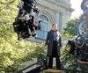 L'acteur américain Michael Fassbender sur le plateau de film X-Men: Jours d'un avenir passé, dont plusieurs scènes ont été tournées à Montréal au cours de l'été2013.