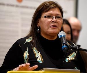 Viviane Michel, présidente de Femmes Autochtones du Québec et coprésidente du forum.