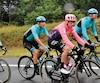 Hugo Houle, à l'arrière à droite, attend avec une grande fébrilité la sélection finale de son équipe Astana pour le Tour de France. À l'avant-plan, le Canadien Michael Woods, qui a commencé sa carrière à Québec, devrait aussi vivre son baptême de feu après une éclatante 3e place au Championnat du monde 2018.