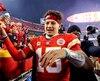 Le quart-arrière des Chiefs de Kansas City, Patrick Mahomes, tentera d'obtenir son premier billet pour le Super Bowl dimanche.