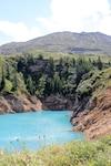 Lac émeraude en plein col du Mont Cenis. De l'autre côté du col.