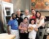 Adam Sandler en compagnie de sa femme Jackie et de ses filles Sadie et Sunny