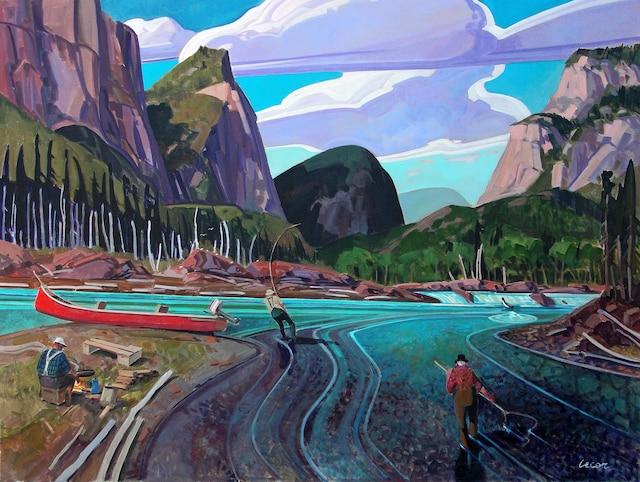 Une toile peinte par Tex Lecor.