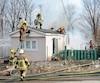 Cette résidence située à Saint-Ferdinand a été ravagée par un incendie possiblement causé par la surchauffe d'un chargeur USB, selon le Service de sécurité incendie régional de L'Érable.