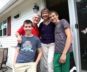 La famille Fortier est une des rares qui parlent encore français à la maison à Lewiston.