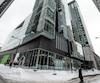 Mohamad Jaber compte parmi les propriétaires de condos de plus de 400 000$ payés comptant, dont celui-ci en 2017 dans cette tour de 50 étages sur la rue Drummond, au centre-ville de Montréal.