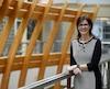 Sophie D'Amours devient la nouvelle rectrice de l'Université Laval, le 26 avril 2017. DIDIER DEBUSSCHERE/JOURNAL DE QUÉBEC