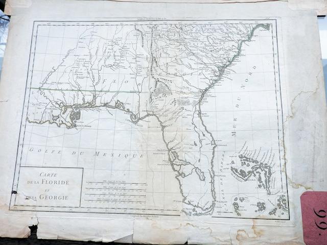 Carte de la Floride et de la Géorgie.