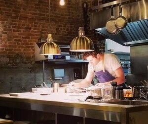 Le chef propriétaire du restaurant ARVI, Julien Masia.