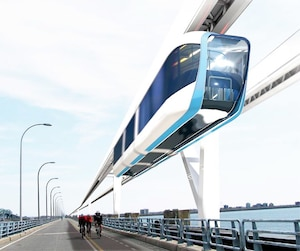 Deux groupes québécois font la promotion d'un monorail suspendu à grande vitesse entre Montréal et Québec: Coop MGV et TrensQuébec. Mais ce genre de technologie n'existe nulle part dans le monde, selon un rapport dont nous avons obtenu copie.