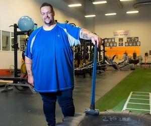 Pour s'aider dans sa perte de poids, Martin Lavoie s'entraîne deux fois par semaine à Boisbriand.
