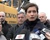 La ministre Guilbault en mêlée de presse. CAPTURE D'ÉCRAN / TVA NOUVELLES / AGENCE QMI