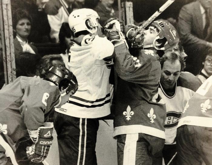 La rivalité entre le Canadien et les Nordiques donnait toujours lieu à des matchs intenses.