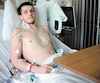 Joé Lagacé-Maillé a été transporté d'urgence depuis Amos à l'Institut de cardiologie de Montréal où il est confiné à son lit en attente d'une greffe de cœur.