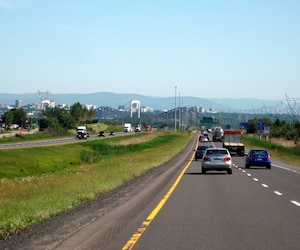 L'autoroute 20 proche de Québec