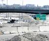 Des entraves sur Henri-IV en mars dernier. Ce chantier a représenté le principal investissement dans la région de Québec en 2018.