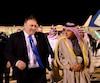 Mike Pompeo est accueilli par le ministre des Affaires étrangères saoudien Adel al-Jubeir à Riyad, le 13 janvier 2019.