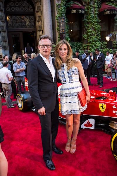 Andrew Lapierre et Julie Du Pagé lors de la soirée Ferrari à l'Hôtel St-James.
