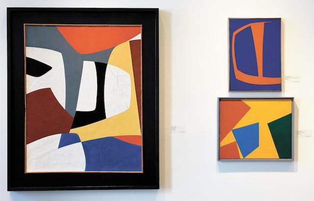 Des toiles signées Fernand Leduc.