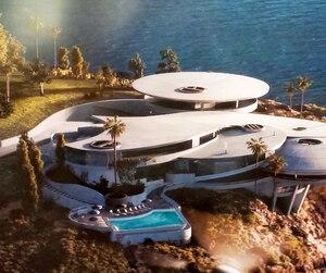 Le terrain équivaut à un terrain de football. La demeure se voulait une copie de celle de Tony Stark dansIronman.