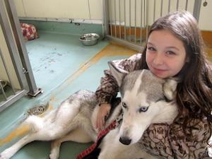 Victoria Forest est rapidement tombée en amour avec le husky que sa famille a adopté à la SPCA.