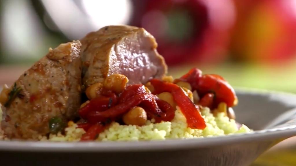 Porc aux poivrons rouges