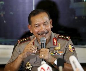 Le chef de la police indonésienne, Badrodin Haiti.