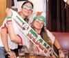 Mahtab Nosrian et Natiseh Bonahdar ont affiché fièrement leurs couleurs, mercredi.