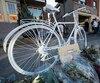 Un vélo fantôme a été installé le 2 septembre dernier en mémoire de Justine Charland St-Amour, happée par un camion le 22 août au coin de la rue d'Iberville et du boulevard Rosemont