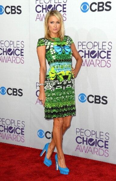 Paris Hilton a foulé le tapis rouge de la 39e édition des People's Choice Awards à Los Angeles.