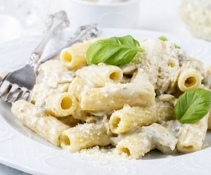 Image principale de l'article Mac and cheese aux crevettes