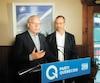 Le chef péquiste Jean-François Lisée a annoncé une série de mesures visant à accroître la transparence, au cours d'un point de presse aux côtés de son député Sylvain Pagé.