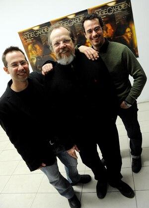 Jean-Sébastien Lord, le réalisateur du film avec Guy Nadon et Patrick Hivon.