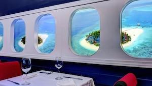 Vous pouvez manger dans un «restaurant avion»