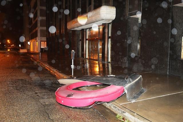 L'ouragan Harvey.