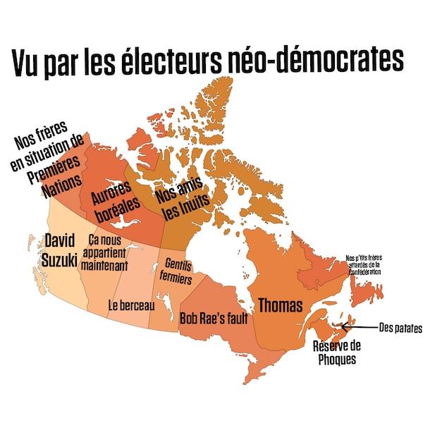 Carte Du Canada Montreal.La Carte Du Canada Vue Par Le Journal De Montreal