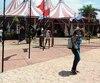 L'entrée du chapiteau du Cirque national de Cuba.