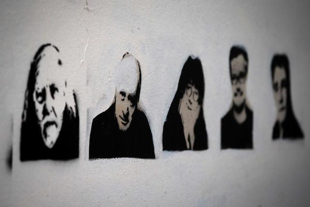 Honoré, Wolinski, Cabu, Charb et Tignous