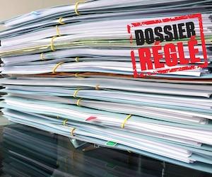 Bloc dossier réglé