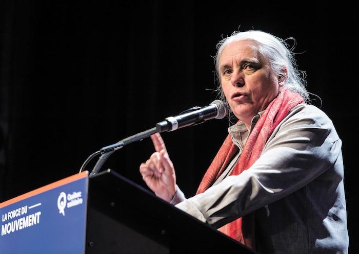 La chef parlementaire de Québec solidaire Manon Massé.