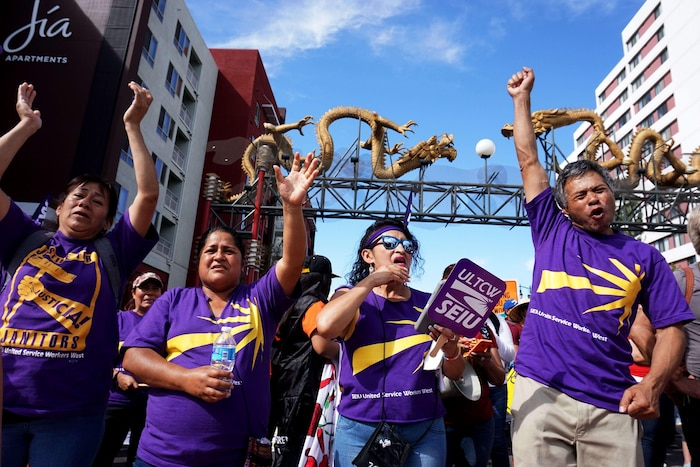 May Day Rally Held in Los Angeles
