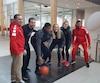 Jacques Paiement fils et Guillaume Giroux ont présenté leur nouveau alignement en vue de la prochaine saison de basketball universitaire.