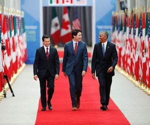 Enrique Pena Nieto, Justin Trudeau et Barack Obama