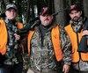 Yan Monette, Stéphane Monette et PascalSaidon en ont gros sur le cœur à quelques jours de l'ouverture de la chasse aux chevreuils. Ils craignent que les bêtes disparaissent du territoire qui entoure la ferme où la maladie du cerf fou a été détectée.