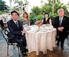 Alors qu'il recevait le premier ministre japonais Shinzo à Mar-a-Logo, Donald Trump a évoqué la tenue de discussions «à très haut niveau» avec Pyongyang.