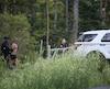 Les policiers ont mis le grappin sur Olivier Lacroix alors qu'il se cachait dans la forêt, jeudi, dans l'arrondissement de La Haute-Saint-Charles.