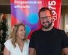 Chantale Jean (à gauche), la directrice de production pour « À nous la rue ! », et le porte-parole Rémi-Pierre Paquin (à droite), lors le dévoilement de la programmation du volet : « À nous la rue ! » au Pub L'île Noire, dans le cadre des célébrations du 375e de Montréal, lundi le 12 juin 2017.