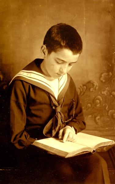 Pierre Demers, né en 1914, lorsqu'il était enfant.